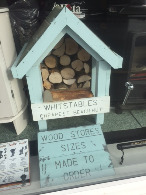 Beach hut log store