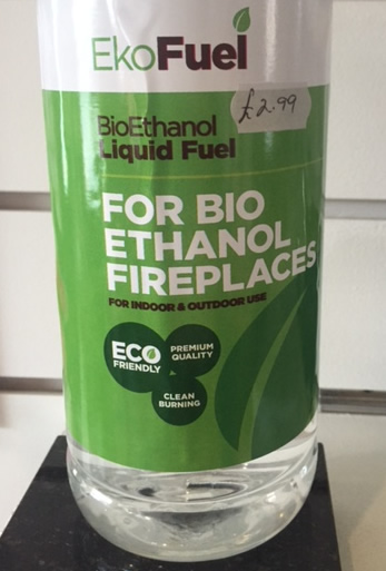 Bio ethanol fuel for fires